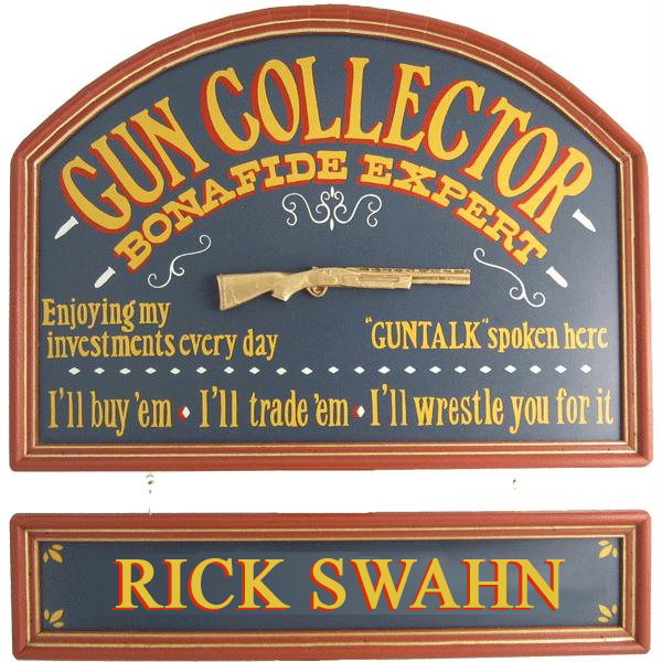 Gun Collector Framed Sign 3-D Gun with Your Name